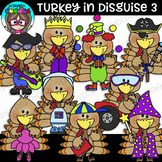 Turkey In Disguise 3 Clipart {Scrappin Doodles Clipart}