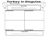 Turkey In Disguise 4-Square Writing