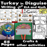 I am Thankful for, Turkey In Disguise Writing, Crafts and MORE! 50% off 24 hours