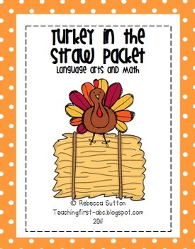 Turkey In the Straw Math and Literacy Packet