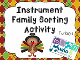 Turkey Instrument Family Sorting Activity