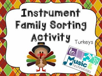 Turkey Instrument Family Sorting Activity