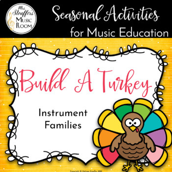 Turkey Instrument Family - Seasonal Music Activity
