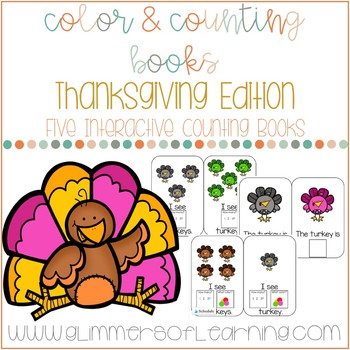Turkey Interactive Color and Counting Books