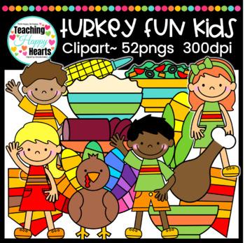 Turkey Kids Fun Clipart
