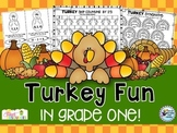 Thanksgiving Turkey ELA and Math (Thanksgiving Activities)