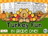 Thanksgiving Turkey ELA and Math (Thanksgiving Activities)