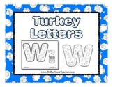 Turkey Letter Coloring Sheets - Thanksgiving, Autumn, Chri