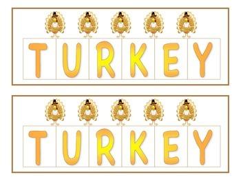 Turkey Letter Draw