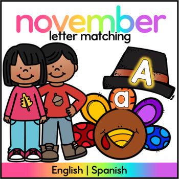 Turkey Letter Match - Spanish and English