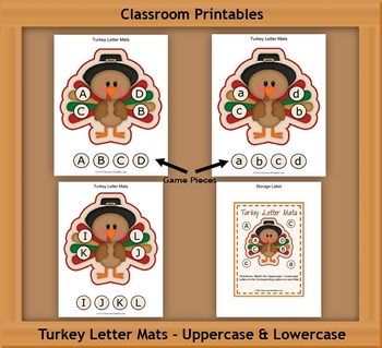 Turkey Letter Mats