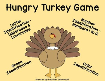 Thanksgiving Literacy and Math Center Game