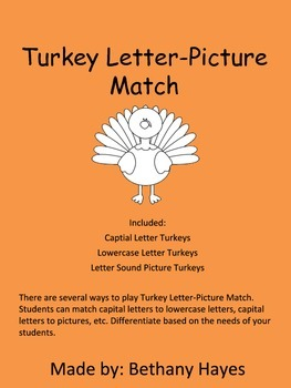 Turkey Letter-Picture Match