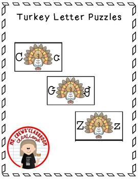 Turkey Letter Puzzles