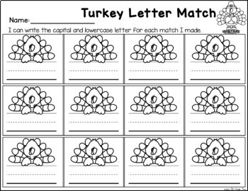 Turkey Letters - Letter Identification