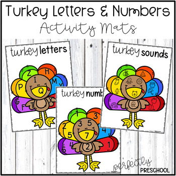 Turkey Letters and Numbers Activity Mats