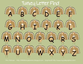 Turkey Letters and Sounds Pack