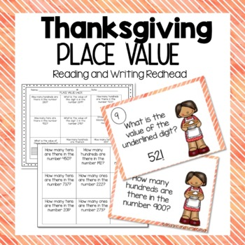 Place Value Practice - Thanksgiving Themed