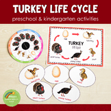 Turkey Life Cycle Activity Set:  Preschool/ Kindergarten