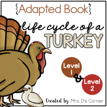 Turkey Life Cycle Adapted Book { Level 1 and Level 2 } Life Cycle of a Turkey
