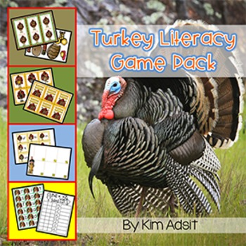 Thanksgiving: Turkey Literacy Game Pack