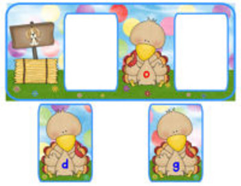Turkey Loves to Spell! {a literacy center for CVC words}