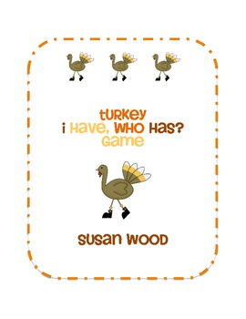 Turkey Lowercase Alphabet I Have, Who Has