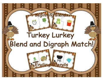 Turkey Lurkey Blend and Digraph Puzzles