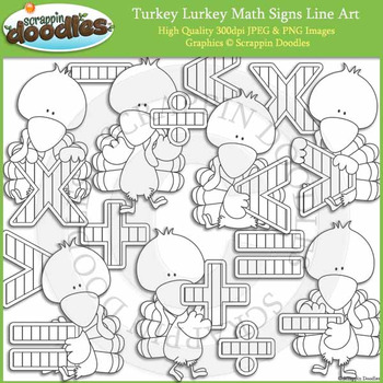 Turkey Lurkey Math Signs