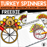 Addition or Multiplication Turkey Spinners Free Sample