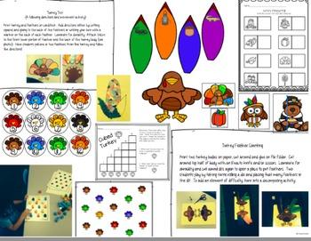 Turkey Lurkey Thanksgiving Pack {ELA, Math & Motor Fun!}