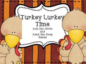 Turkey Lurkey Time - Roll, Say, and Write with CVC words (writing tools edition)