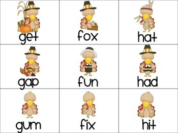 Turkey Lurkey Time -  CVC words