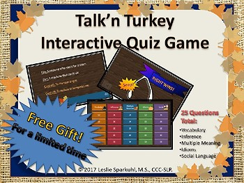 Turkey Lurkey, Who Got the Turkey? Games for Language Concepts