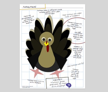 Turkey MATH SCIENCE and ART Thanksgiving Activities