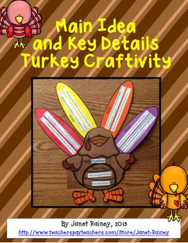 Turkey Main Idea and Key Details Craftivity