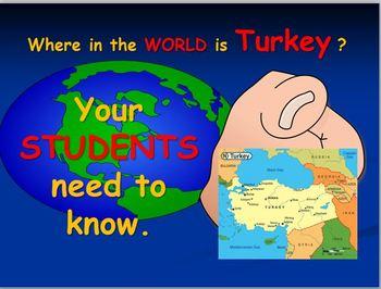 Turkey Map Activities