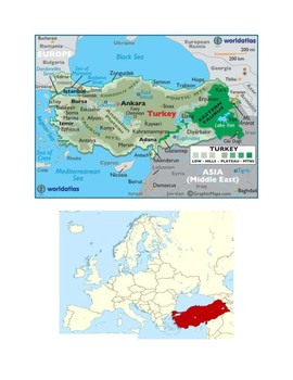 Turkey Map Scavenger Hunt