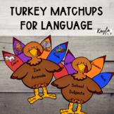 Turkey Match-Up {Language Activities}