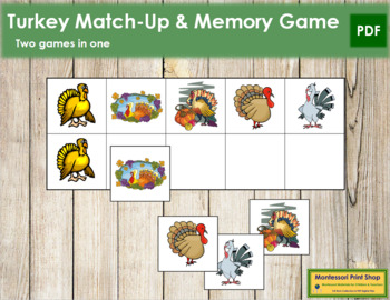 Turkey Match-Up and Memory