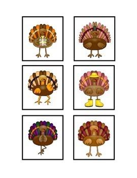 Thanksgiving Activities - FREE Turkey Matching File Folder Game