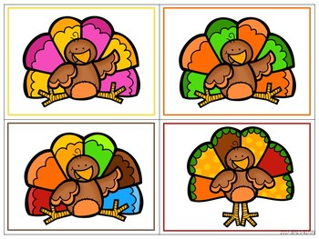 Turkey Matching for Toddlers, Preschool, and PreK