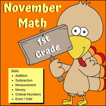 Turkey Math - 1st Grade