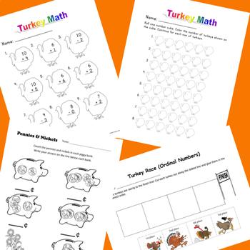 November Math for 1st Grade