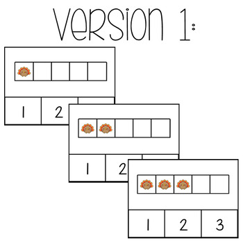 Turkey Math: 5 Frames **TWO VERSIONS**