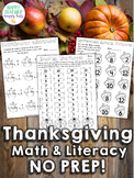 Turkey Math Activities, Games, & Fact Practice