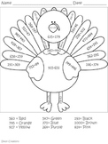 Turkey Math - Adding and Subtracting Within 1000 3.NBT.A.2