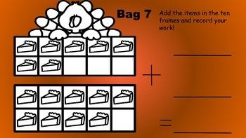 Turkey Math Bag Number Sense Centers