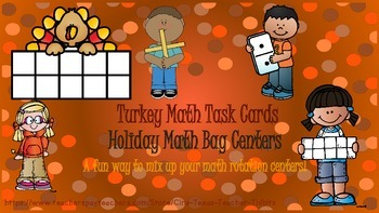 Turkey Math Bag Number Sense Centers