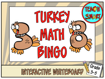 Turkey Math Bingo
